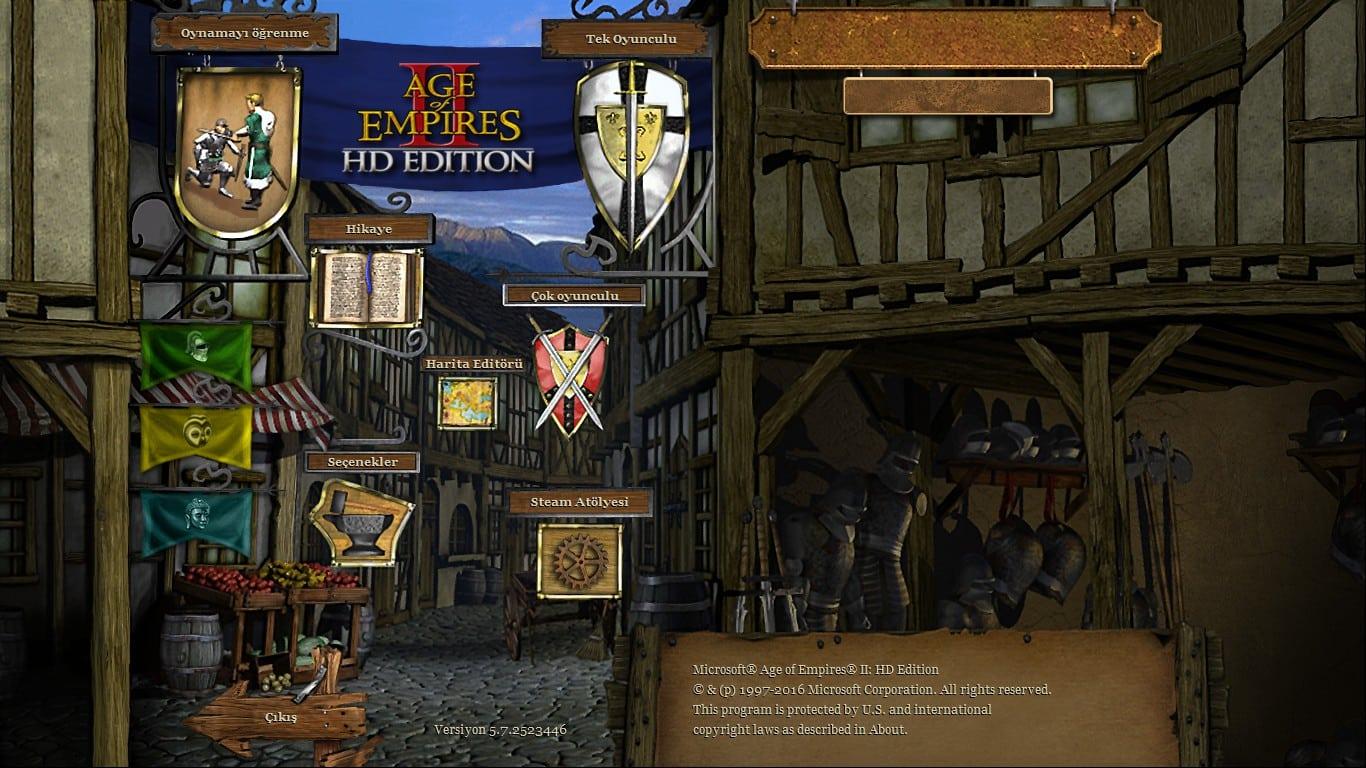 Age Of Empires II HD Steam Versiyon 5.7.2