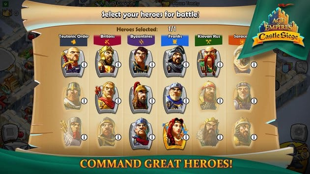 Hall of Heroes – Castle Siege Kahramanları II